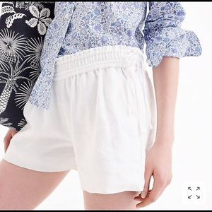 J. Crew Side Tie Linen Shorts